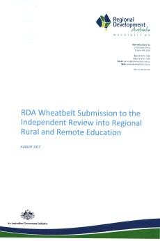 RDA Wheatbelt Education Inquiry Submission - Aug 2017