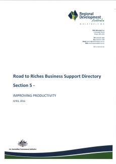 RDA Wheatbelt Road to Riches Directory - Section 5