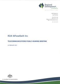 RDA Wheatbelt Telecommunications Public Hearing Briefing - Feb 2017