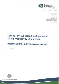 RDA Wheatbelt Telecommunications Second PC Submission - Jan 2017